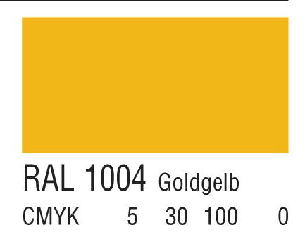 RAL 1004金黄色