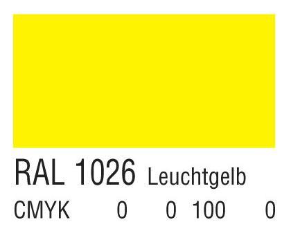 RAL 1026亮黄色