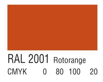 RAL 2001橘红