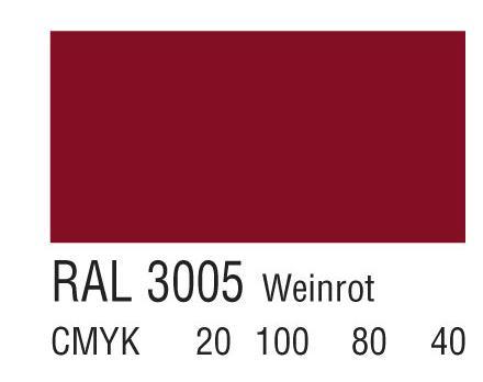 RAL 3005葡萄酒红