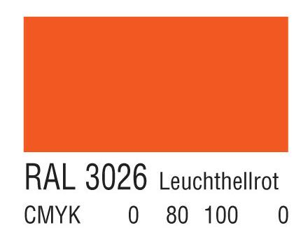 RAL 3026淡亮红色