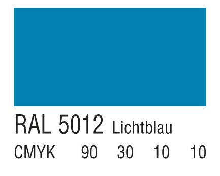 RAL 5012淡蓝色